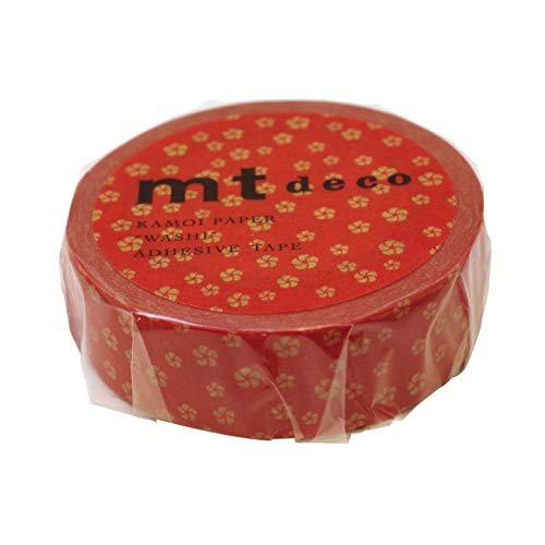 mt deco マスキングテープ 1P【ねじり梅・赤橙(あかだいだい)】 MT01D429