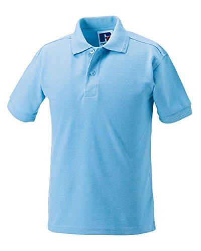 Russell Jerzees Poloshirts für Kinder, Mädchen, Jungen, Polycotton, 5 Stück Gr. One size, sky