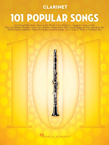 101 Popular Songs - Clarinet (Instrumental Folio