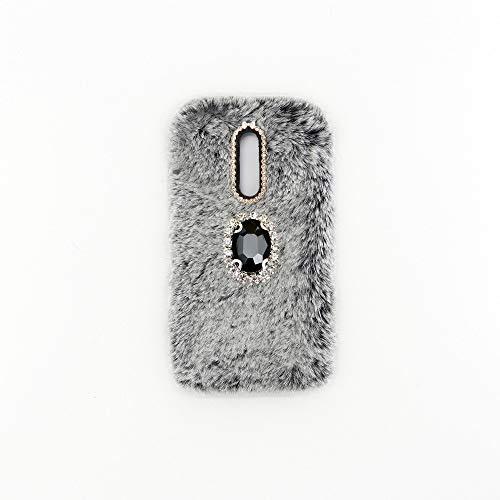 YHY Gris Oscuro Noble Elegante Caja del Teléfono para ZTE Axon 7 Mini Móvil Diamantes imitación TPU Funda Silicona