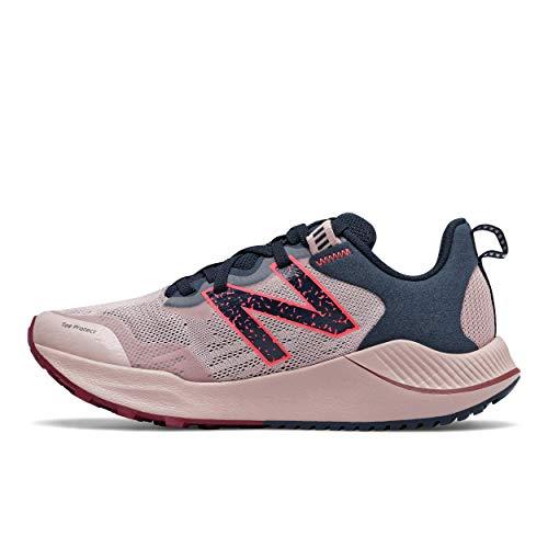 New Balance Women's DynaSoft Nitrel V4 Trail Running Shoe, Saturn Pink/Natural Indigo, 8