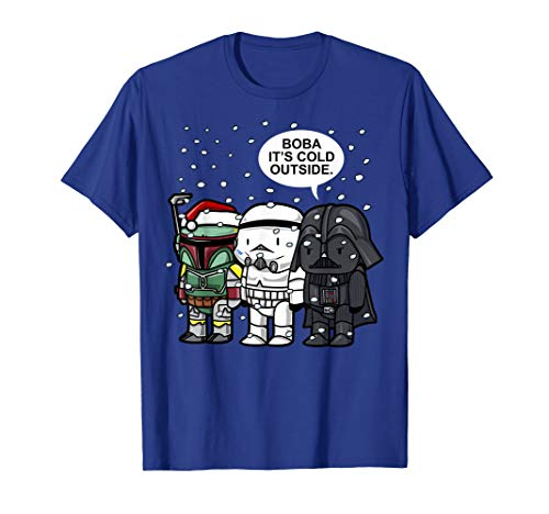 Star Wars Christmas Boba It's Cold Outside Graphic T-Shirt