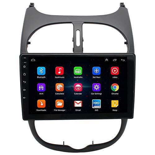YGQNH Navegación para Coche, 1G + 16G Android 9.0 para Peugeot 206 Citroen C2 Radio De Coche Reproductor De Vídeo Multimedia Navegación GPS 2 DIN DVD, Multifunción