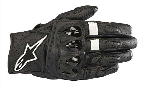Alpinestars Men's Celer v2 Leather Motorcycle Short-Cuff Glove, Black, Extra Large