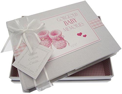 gro/ß White Cotton Cards Erinnerungsschachtel f/ür Gorgeous Baby Erinnerungen silber Beute