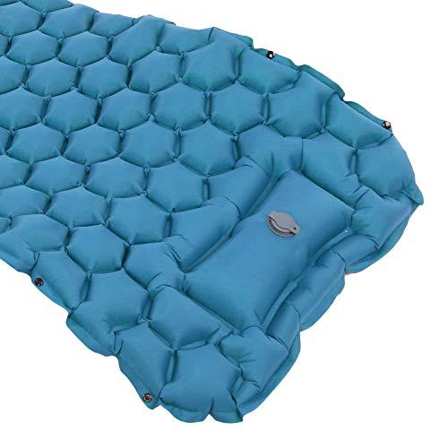 Gedourain Almohadilla para Acampar, Tela de Nailon para Dormir 40D con una Bolsa de Almacenamiento para hamacas para Tiendas de campaña(Peacock Blue)