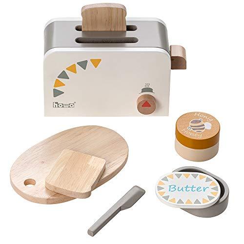 Howa Toaster für Kinder aus Holz incl. 6 TLG. Zubehör