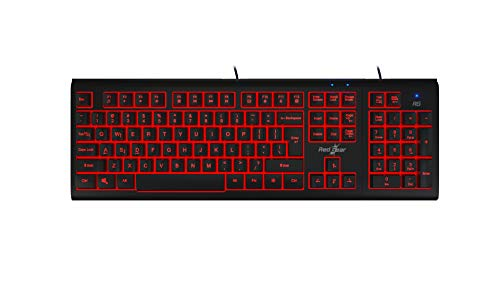 (Renewed) Redgear Dual Hammer 2 in 1 Keyboard with 3 LED Color, Windows keylock and Detachable Numpad