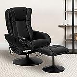 #2. Flash Furniture Massaging Black Leather Recliner