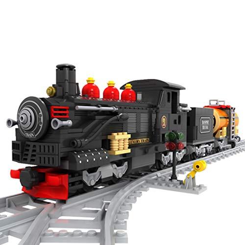 Likecom Technik Alt Zug Bausteine Bausatz, 586 Teile Konstruktionsspielzeug Kompatibel mit Lego Technic