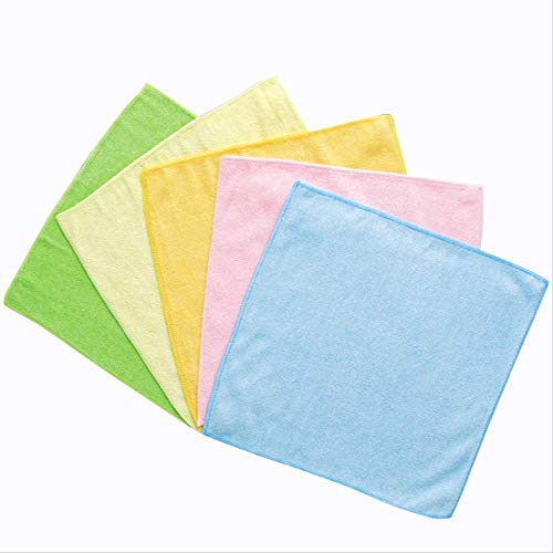 Microvezel handdoek schoonmaken doek tafelkleed Huishoudelijke Chores stof-absorberende wassen schotel handdoek 5 Stks Willekeurige kleuren