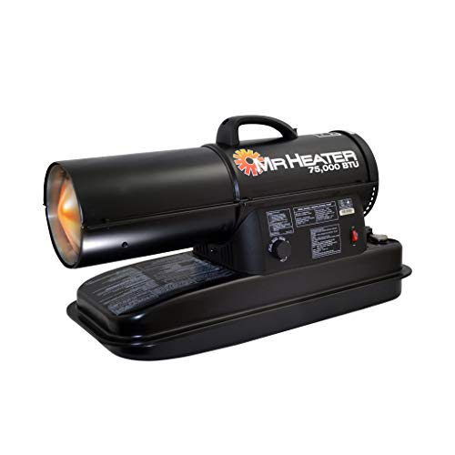 Mr. Heater MH75KTR kerosene heater, Black