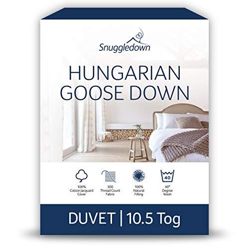 Snuggledown Hungarian Goose Down King Size Duvet 10.5 Tog All Year Round Duvet King Size