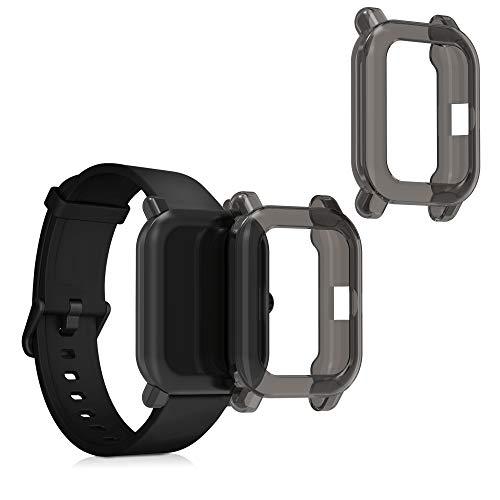 kwmobile Case Protettiva per Fitness Tracker Compatibile con Huami Amazfit Pop Pop PRO - Semitrasparente Protezione Sportiva Cardio Orologio Smart