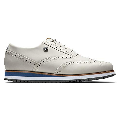Footjoy Damen Sport Retro Golfschuh, Weiß Blau, 39 EU