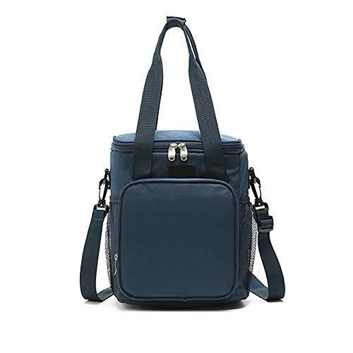 LXMBox Lunchpaket Mit Isolierung, Lunchpaket Beutel, Multifunktions-tragbare Isolationstasche Back Milk Bag Picknick im Freien Rucksack Ice Bag für Männer, Frauen, Kinder,Black