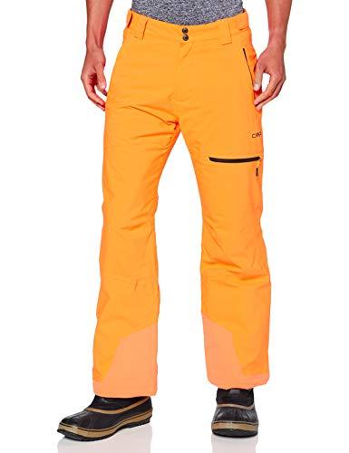 CMP Pantaloni da sci water repellent, Uomo, Orange Fluo, 48, Orange Fluo