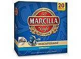 Marcilla Café Descafeinado - 200 cápsulas compatibles con máquinas Nespresso*® (10 paquetes de 20 unidades)