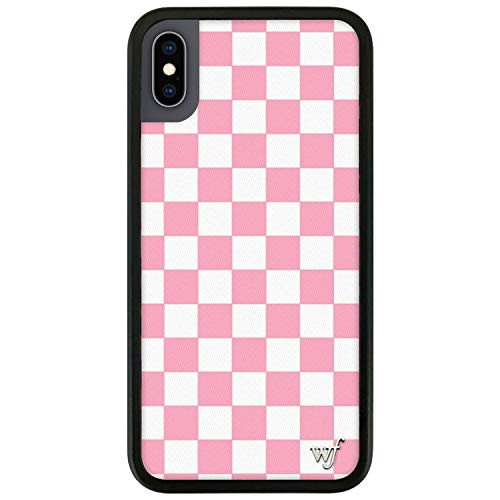 Wildflower Limited Edition Cases Compatible with iPhone X and XS (Pink Checkered)
