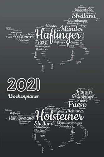 Wochenplaner 2021 Pferde: Timer A5 klein mit ToDo Liste | Wochenkalender | Organizer | Kalenderbuch | Tagebuch | Terminkalender | Motiv: Pferderassen 2