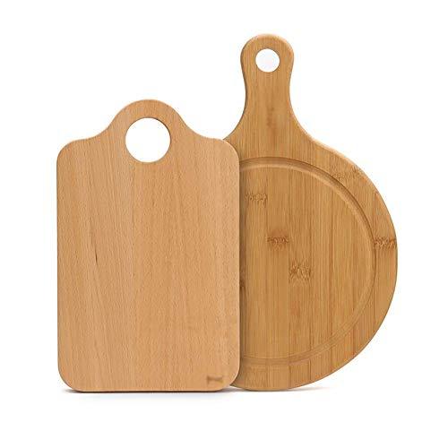 Snijplank Kleine set van houten tafel snijden met 2 spaarders for werkbladen in flexibele houten keuken brood A chopping board