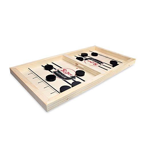 DIYARTS Holz Fast Sling Puck Game Katapult Brettspiel Schach Katapult Desktop Eishockey Indoor-Spiele Tischball Slingshot Tischplatte Air Hockey