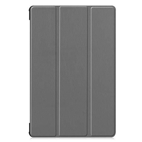 Trifold bracket flat cover, suitable for Samsung Tab S6 Lite P610/P615 flip cover sleep-gray