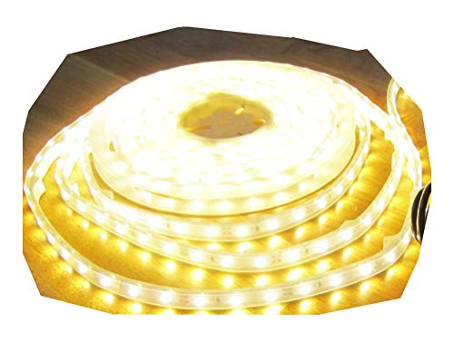 6050 Lumen 5m Ultra-Highpower LED Streifen mit 300 2835 LED's warmweiß warm weiss weiß superhell wasserdicht IP65 24V ohne Netzteil von AS-S