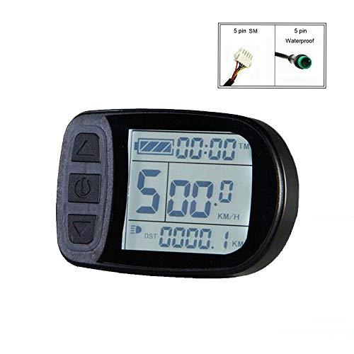 Fahrradumrüstzubehör Display KT-LCD5 E-Bike Meter Display für KT Controller (SM Connector)