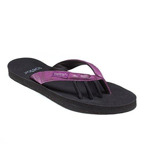 toesox Women's Zuma Flat - Purple