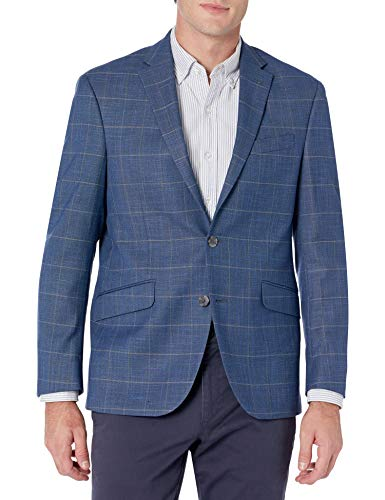Kenneth Cole REACTION Men's Slim Fit Blazer, Blue Plaid, 36R