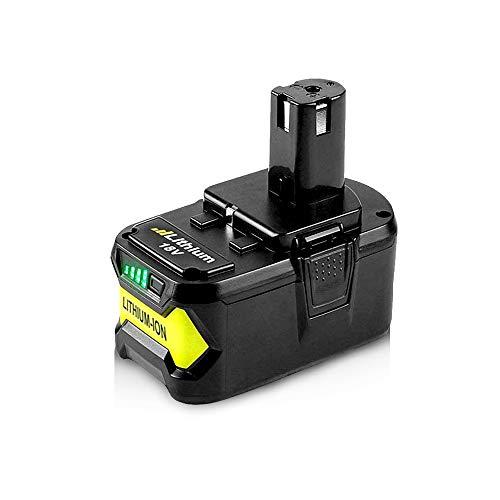 P108 Battery 18-Volt 6.0Ah High Capacity Replacement for P108 Ryobi 18v Battery Lithium P102 P104 P107 P105 P106 P103 BPL18151 BPL1820