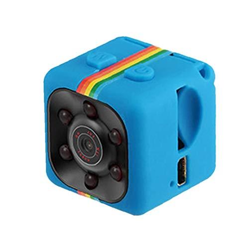 Odoukey Videocamera HD 1080P del sensore di Movimento di Visione Notturna SQ11 Mini videocamera Micro DVR Camara Sport DV Video Recorder Blu