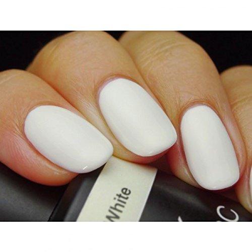 Pink Gellac 101 Soft White UV Nagellack. Professionelle Gel Nagellack shellac für mindestens 14 Tage perfekt glänzende Nägel