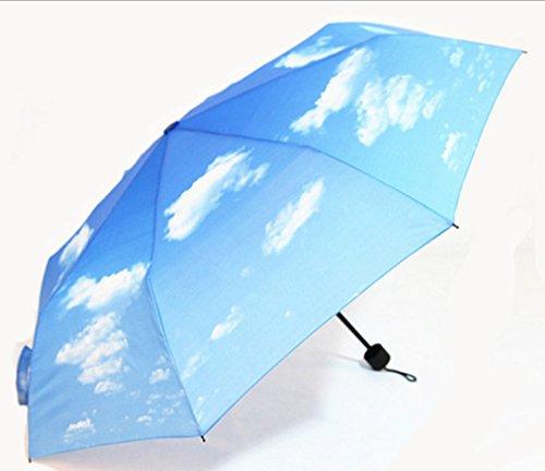 GTWP GTWP GT Umbrella DREI Fold Sun Rain Umbrella manuell Umbrella Anti-UV Waterproof Parasol Regenschirm Sunshade