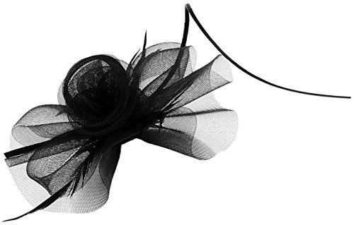 La Vogue Barrette Pince à Cheveux Fleur Voile Clip Femme Fille Serre-Tête Noir