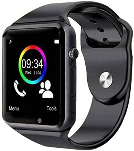 Electroplus Bluetooth Smartwatch Phone Watch with Camera SIM Slot Compatible with All Android Devices and Smartphones Black