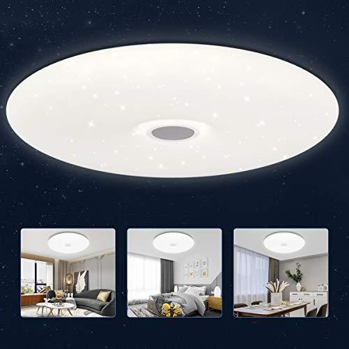 Led Deckenleuchte 24W 2200LM, Deckenlampe Sternenhimmel 4000K Natürliches Weiß für Schlafzimmer Kinderzimmer küche Wohnzimmer, Rund 40CM Ultra Dünn
