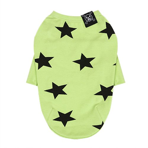 Puppy Angel honden T-shirt motief ster groen maat S/M