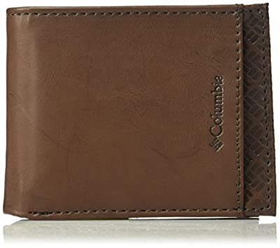 Columbia Men's RFID Security Blocking Extra-Capacity Slimfold Wallet,Brown