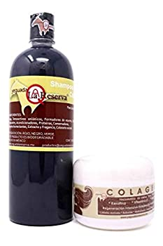 2 In 1 Yeguada La Reserva Hair Treatment Bundle For Strong Healthy And Beautiful Hair 1 Liter La Yeguada Shampoo and 250gr Colageno Yeguada Dist By Alebrije Imports Inc