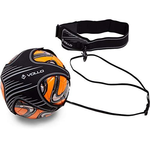 Vollo Sports Elástico para Treinamento de Futebol, Cinza/Preta
