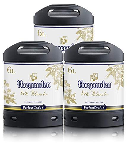 Bier PerfectDraft 3 x 6-Liter Fässer Hoegaarden Wit Bier - Weizenbier. Zapfanlage für Zuhause. Inklusive 15euros Pfand.