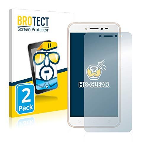 BROTECT Schutzfolie kompatibel mit Asus ZenFone Live ZB501KL (2 Stück) klare Bildschirmschutz-Folie
