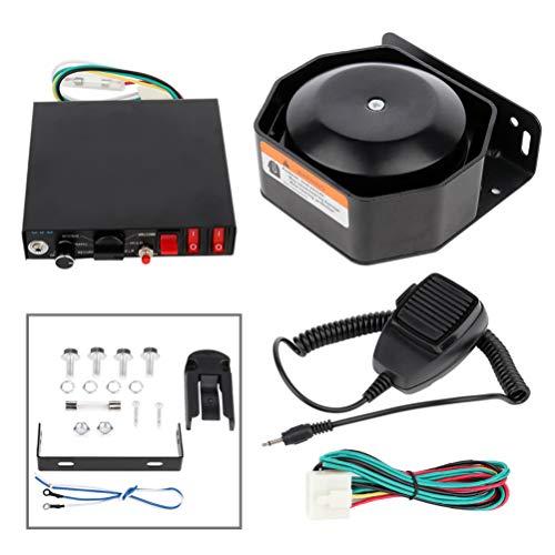 New LUJUNTEC 12V 200W Emergency Warning Siren Universal Electronic Alarm Horn with Speaker for Truck...