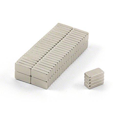 Magnet Expert 10 x 5 x 2 mm d'épaisseur N42 aimants en néodyme - 1.1 kg Pull (paquet de 100)