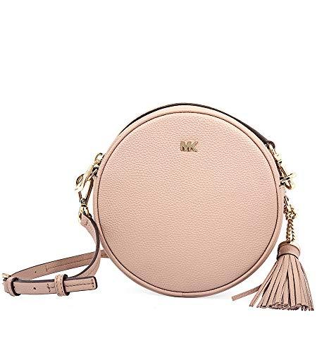 "Pebbled leather with gold-tone hardware Zip around closure; Full length exterior back snap pocket Interior back slip pocket Adjustable Strap: 21.5""-23.5"" 7""W X 7""H X 2""D"