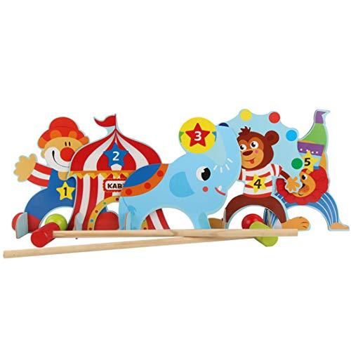 Kinderspielzeug,Kinder Krocket Set Holz Cartoon Tier Zirkus Interaktives Spielzeug Eltern-Kind-Spiel
