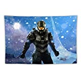 Halo Master Chief Wall Tapestry for Bedroom Aesthetic Tapestry for Men Womem Child Home Decor for Living Room Dorm Party Birthday Decoration