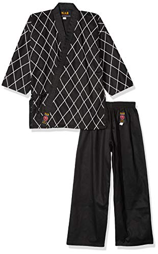 M.A.R International Ltd Hapkido Anzug Gi Anzug Outfit HAP KI DO Kleidung hapki-do Gear Baumwolle Stoff, schwarz 200 cm